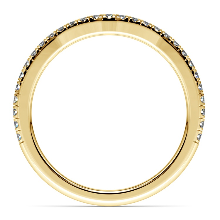 Petite Halo Matching Band in Yellow Gold | 03