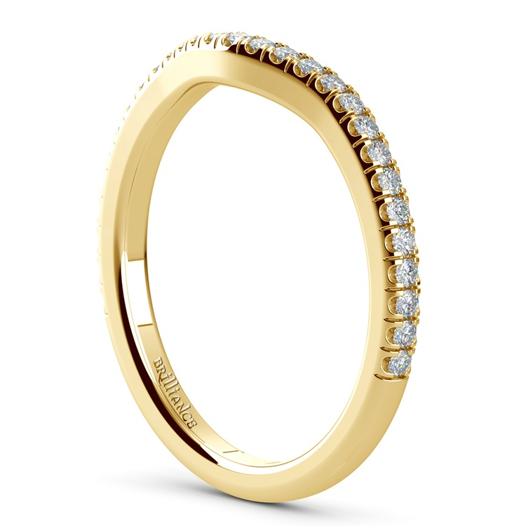 Petite Halo Matching Band in Yellow Gold | 04