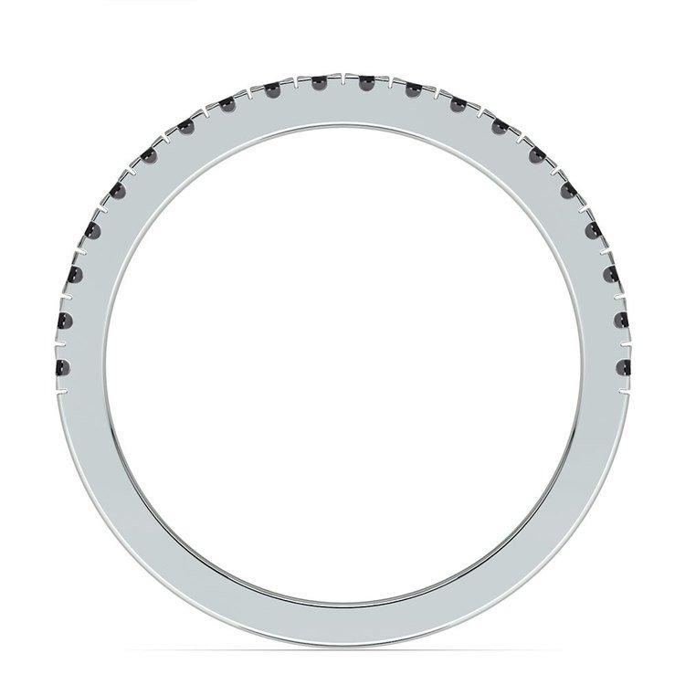 Petite Pave Black Diamond Wedding Ring in Platinum (1/4 ctw) | 03