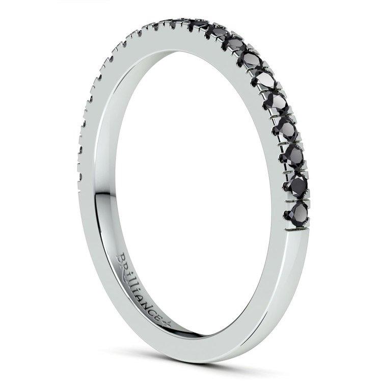 Petite Pave Black Diamond Wedding Ring in Platinum (1/4 ctw) | 04