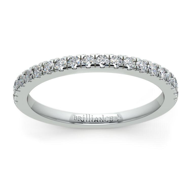 Petite Pave Diamond Wedding Ring in Palladium (1/4 ctw) | 02