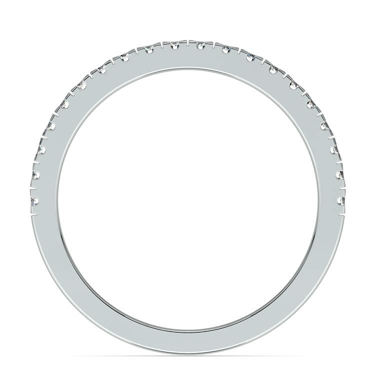 Petite Pave Diamond Wedding Ring in Palladium (1/4 ctw) | 03