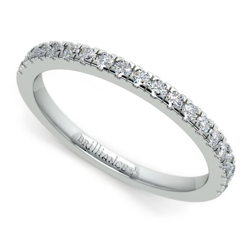 petite pave diamond wedding ring in platinum 14 ctw - Wedding Ring Photos