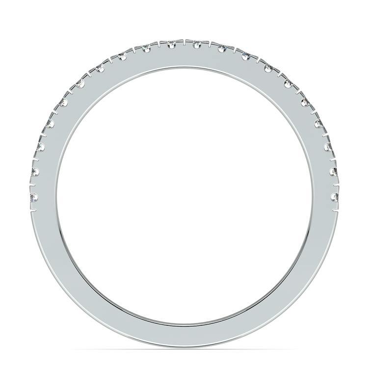 Petite Pave Diamond Wedding Ring in Platinum (1/4 ctw) | 03