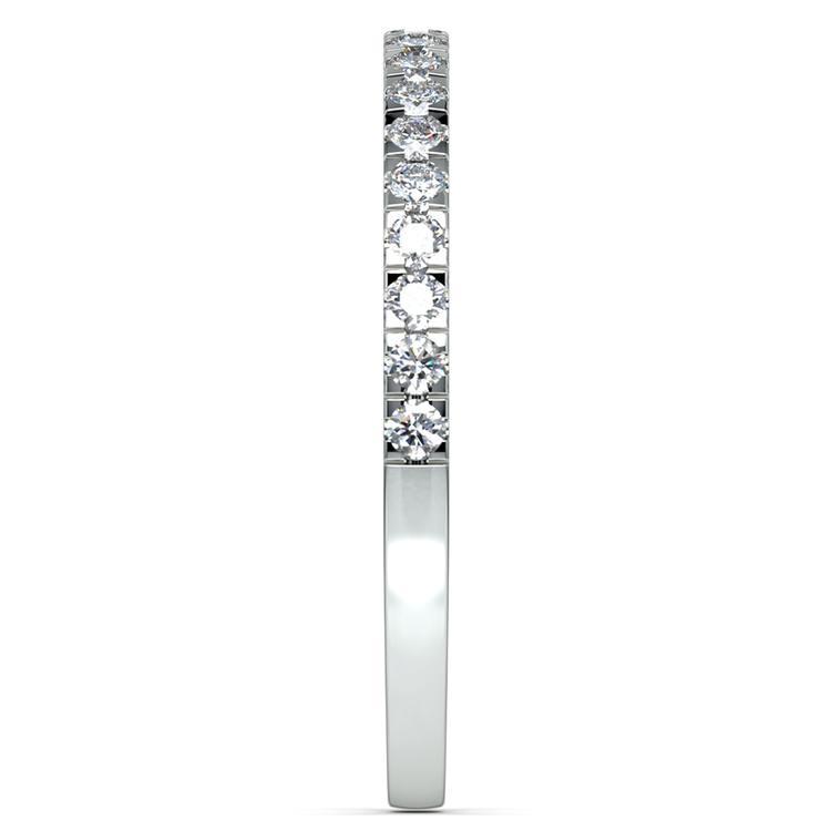 Petite Pave Diamond Wedding Ring in Platinum (1/4 ctw) | 04