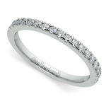 Petite Pave Diamond Wedding Ring in White Gold (1/4 ctw) | Thumbnail 01