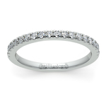 Petite Pave Diamond Wedding Ring in White Gold (1/4 ctw) | Thumbnail 02