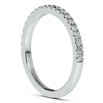 Petite Pave Diamond Wedding Ring in White Gold (1/4 ctw) | Thumbnail 05