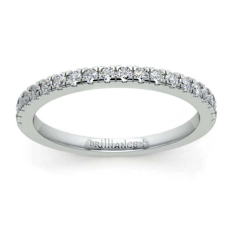 Petite Pave Diamond Wedding Ring in White Gold (1/4 ctw) | 02