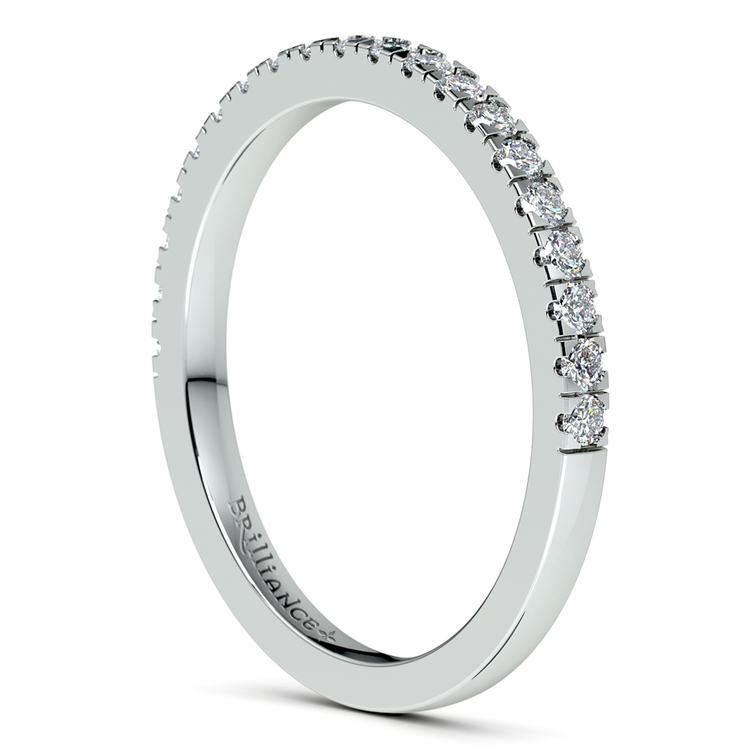 Petite Pave Diamond Wedding Ring in White Gold (1/4 ctw) | 05