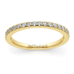 Petite Pave Diamond Wedding Ring in Yellow Gold (1/4 ctw) | Thumbnail 02