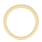 Petite Pave Diamond Wedding Ring in Yellow Gold (1/4 ctw) | Thumbnail 03