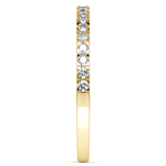 Petite Pave Diamond Wedding Ring in Yellow Gold (1/4 ctw) | Thumbnail 04