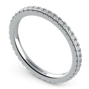 Petite Pave Diamond Eternity Ring in Platinum (1/2 ctw)