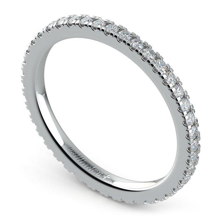 Petite Pave Diamond Eternity Ring in Platinum (1/2 ctw) | 01