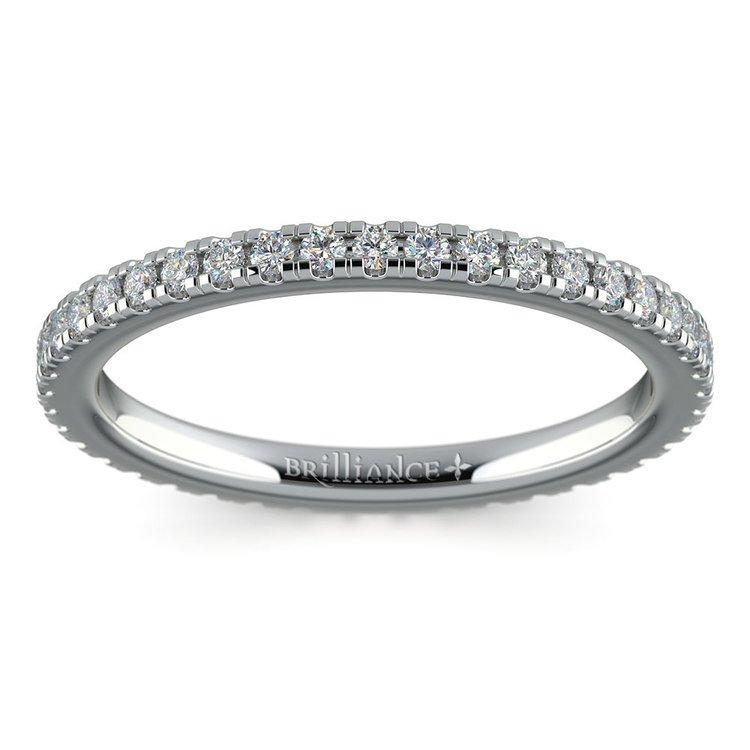 Petite Pave Diamond Eternity Ring in Platinum (1/2 ctw) | 02