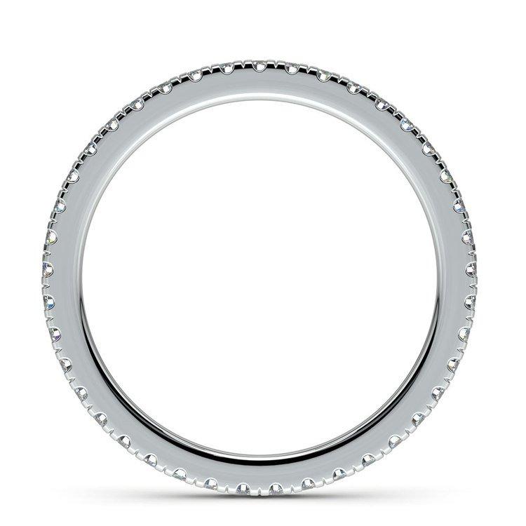 Petite Pave Diamond Eternity Ring in Platinum (1/2 ctw) | 03