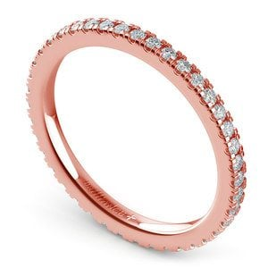 Petite Pave Diamond Eternity Ring in Rose Gold (1/2 ctw)