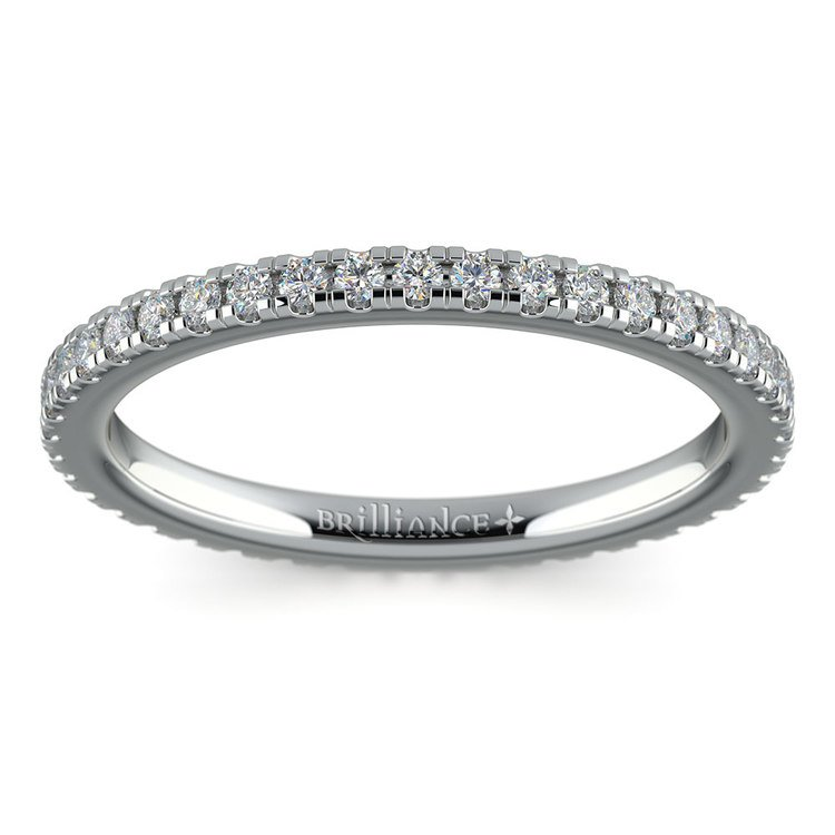 Petite Pave Diamond Eternity Ring in White Gold (1/2 ctw) | 02