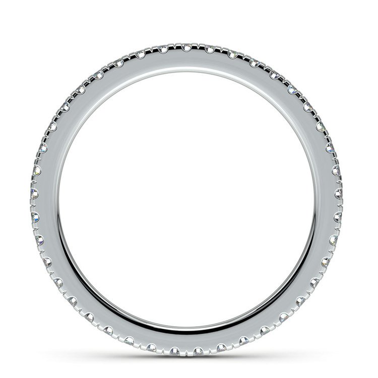 Petite Pave Diamond Eternity Ring in White Gold (1/2 ctw)   03