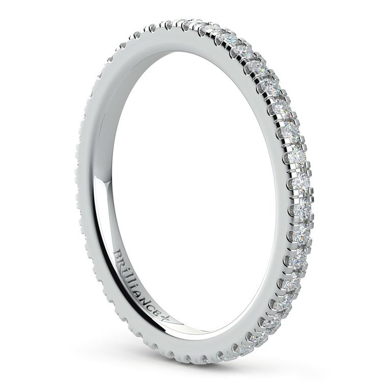 Petite Pave Diamond Eternity Ring in White Gold (1/2 ctw) | 04