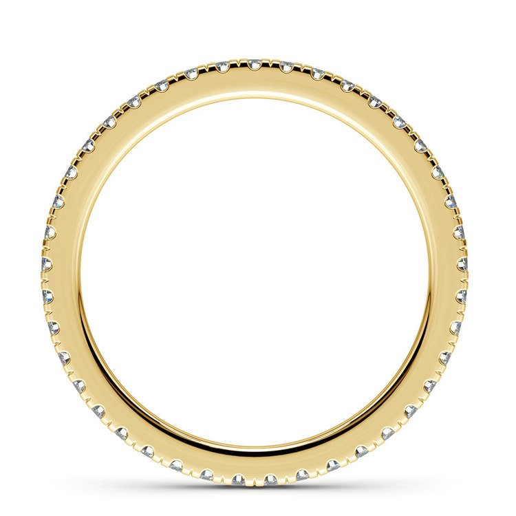 Petite Pave Diamond Eternity Ring in Yellow Gold (1/2 ctw) | 03
