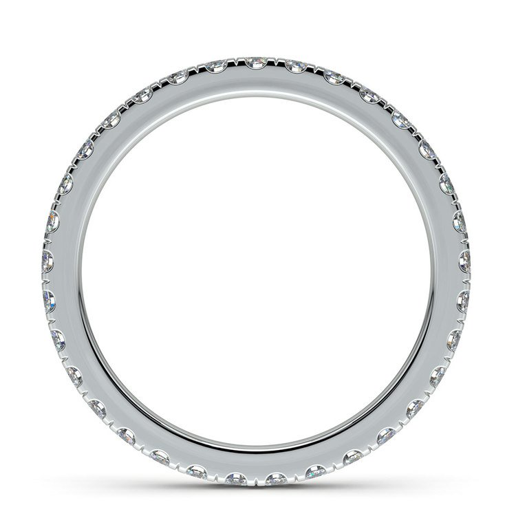Petite Pave Diamond Eternity Ring in Platinum (4/5 ctw) | 03