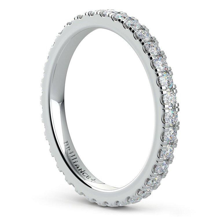 Petite Pave Diamond Eternity Ring in Platinum (4/5 ctw) | 04