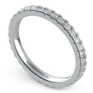 Petite Pave Diamond Eternity Ring in White Gold (4/5 ctw)