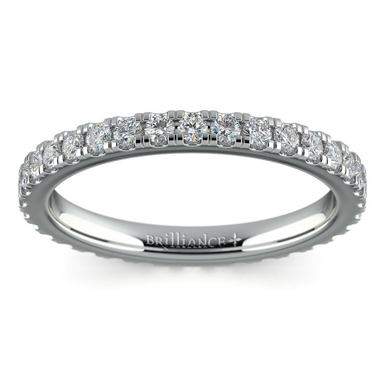 Petite Pave Diamond Eternity Ring in White Gold (4/5 ctw) | 02