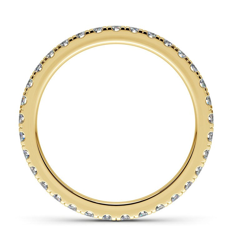 Petite Pave Diamond Eternity Ring in Yellow Gold (4/5 ctw) | 03