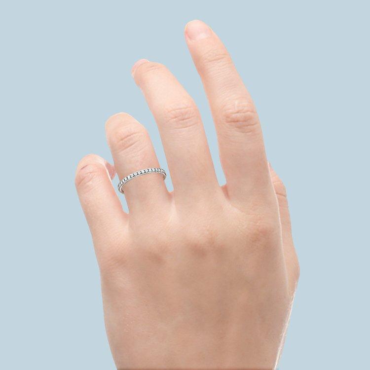Petite Pave Diamond Eternity Ring in Platinum (5/8 ctw)   05