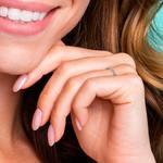Petite Pave Diamond Eternity Ring in White Gold (5/8 ctw) | Thumbnail 06