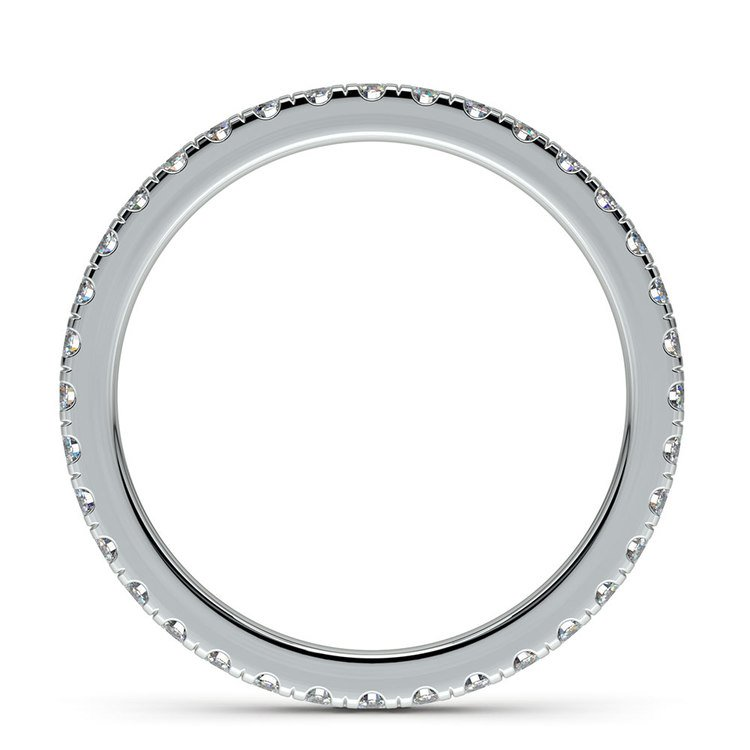 Petite Pave Diamond Eternity Ring in White Gold (5/8 ctw) | 03