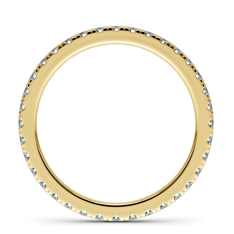 Petite Pave Diamond Eternity Ring in Yellow Gold (5/8 ctw) | 03