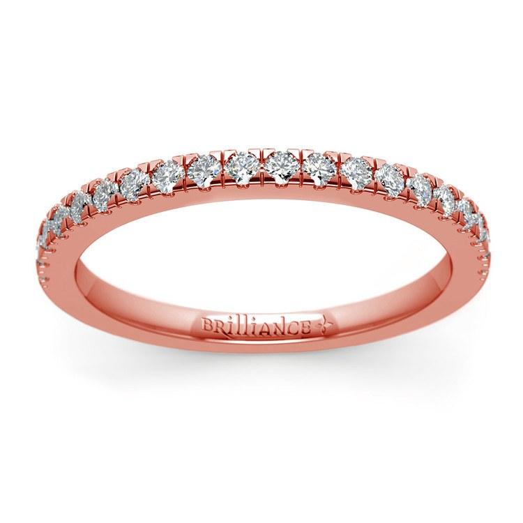 Petite Pave Diamond Wedding Ring in Rose Gold (1/4 ctw)   02