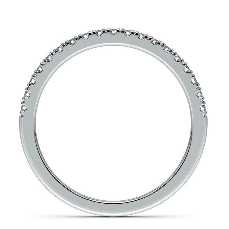 Petite Scallop Diamond Wedding Ring in White Gold | 03