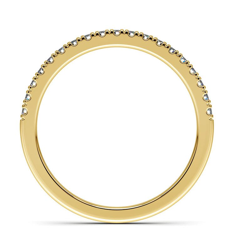 Petite Scallop Diamond Wedding Ring in Yellow Gold | 03