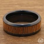 Bourbon Barrel - Zirconium & Leopardwood Mens Wedding Band | Thumbnail 04