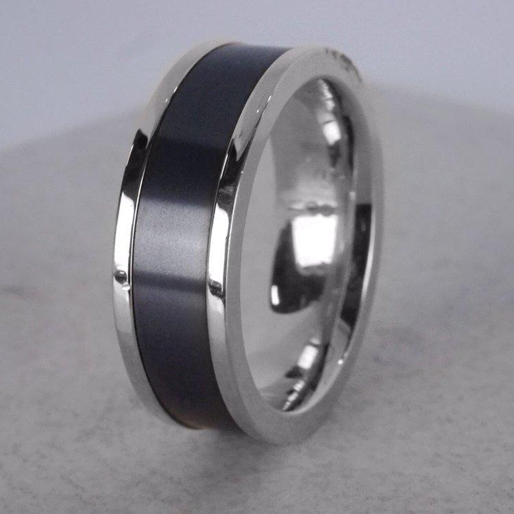 Poseidon - Flat Edge Elysium Ring in White Gold | 06