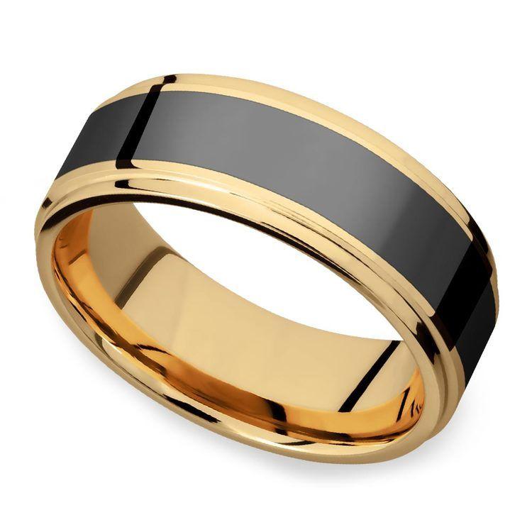 Poseidon - Step Edge Elysium Ring in Yellow Gold | 01