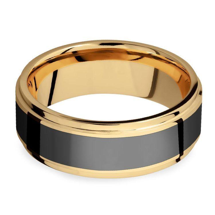 Poseidon - Step Edge Elysium Ring in Yellow Gold | 03