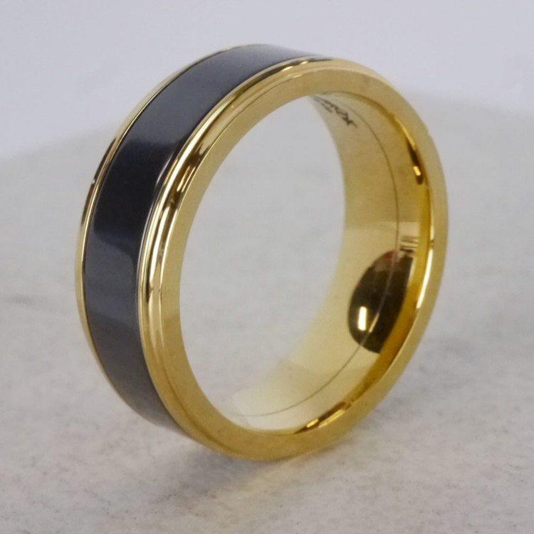 Poseidon - Step Edge Elysium Ring in Yellow Gold | 04