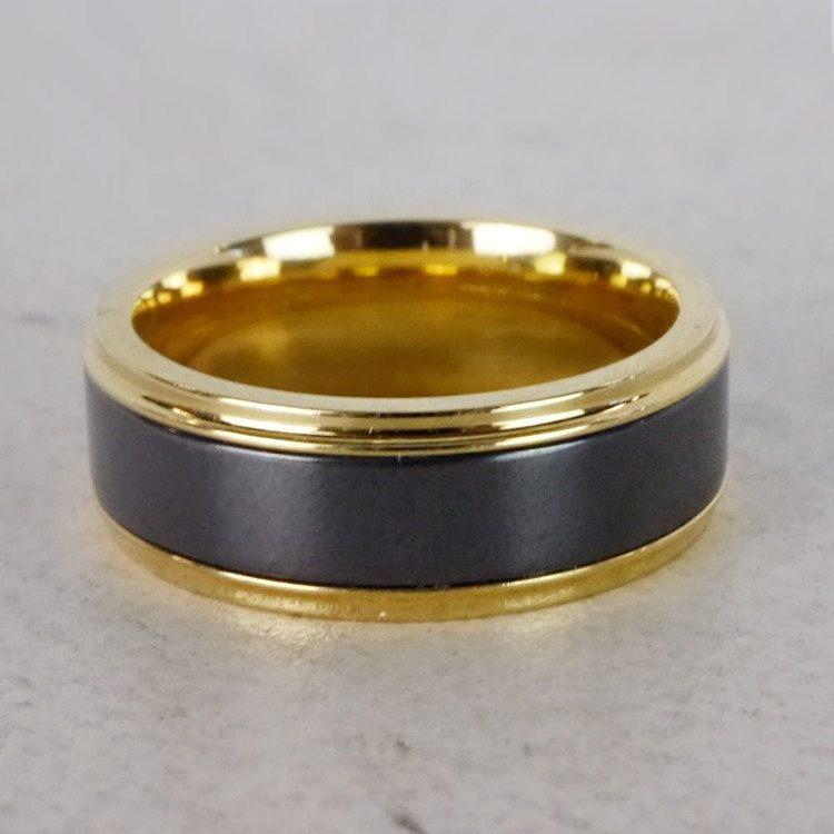 Poseidon - Step Edge Elysium Ring in Yellow Gold | 05
