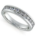 Princess Channel Diamond Wedding Ring in Platinum (1 ctw) | Thumbnail 01