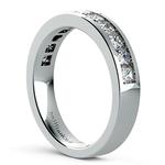 Princess Channel Diamond Wedding Ring in Platinum (1 ctw) | Thumbnail 04