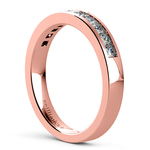 Princess Channel Diamond Wedding Ring in Rose Gold (1/2 ctw) | Thumbnail 04
