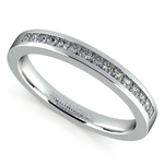 Princess Channel Diamond Wedding Ring in White Gold | Thumbnail 01