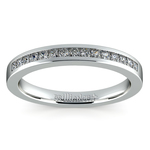 Princess Channel Diamond Wedding Ring in White Gold | Thumbnail 02