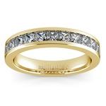 Princess Channel Diamond Wedding Ring in Yellow Gold (1 ctw) | Thumbnail 02